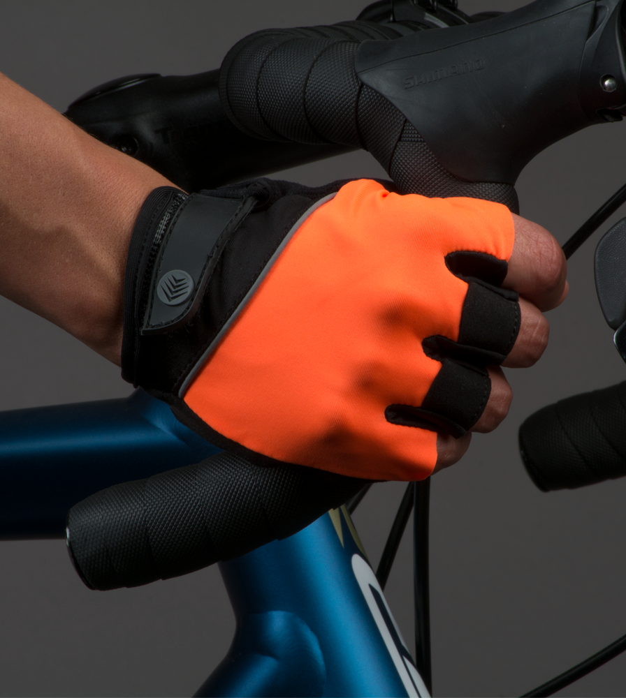 Gel Padded Orange Cycling Gloves