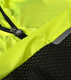 Safety Yellow Cycling Vest Fabric Close-up