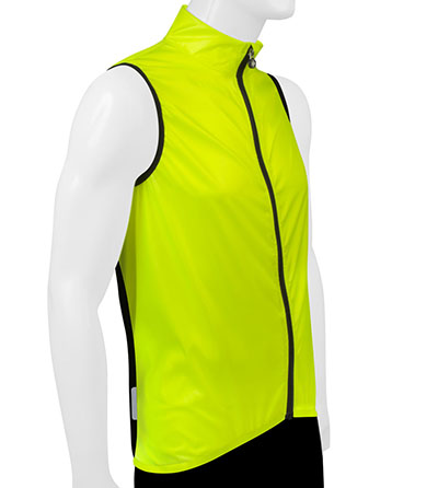 Classic Safety Yellow Cycling Wind Vest