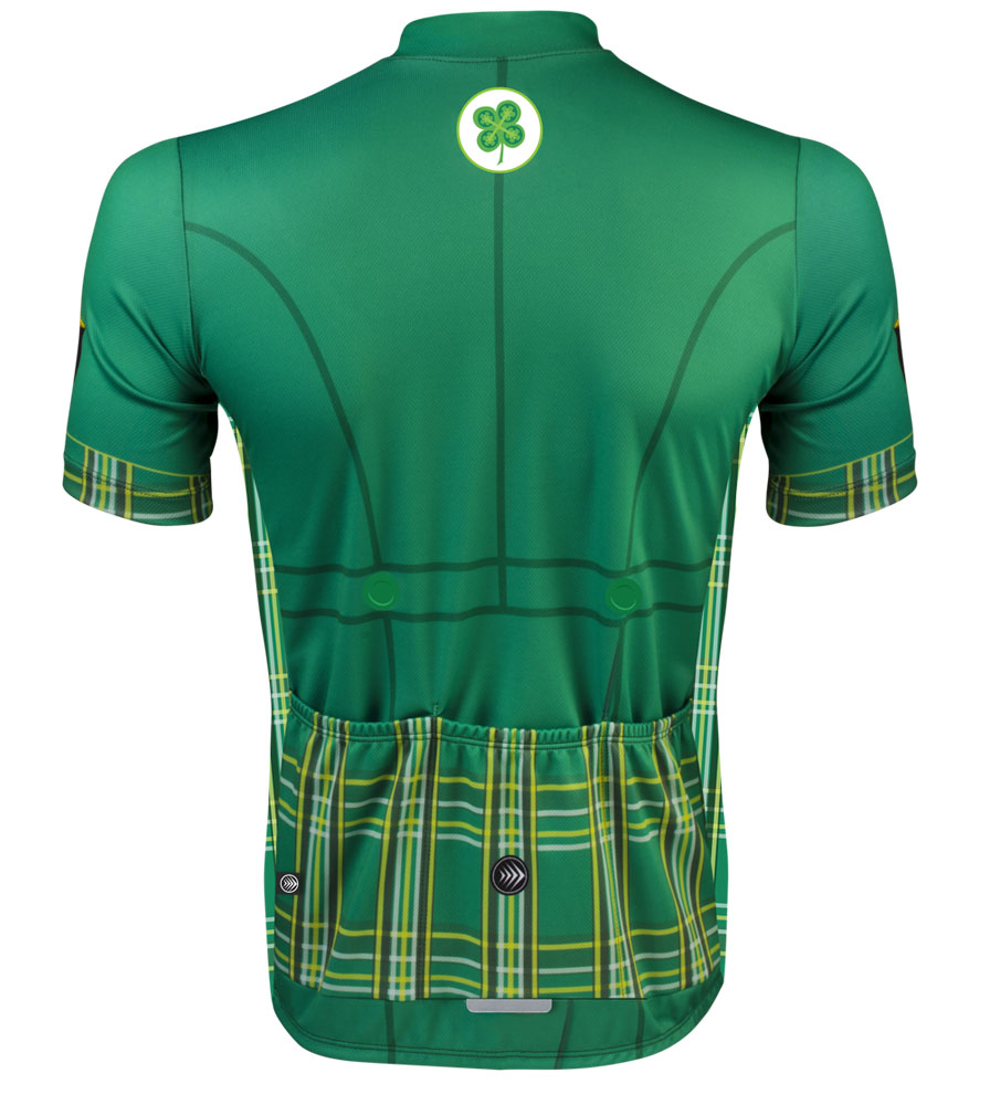 7d70689ce ... designs cycling apparel St Patrick s day bike jersey back view