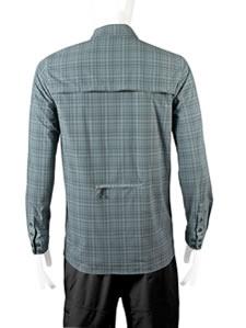extra long shirt gray back view