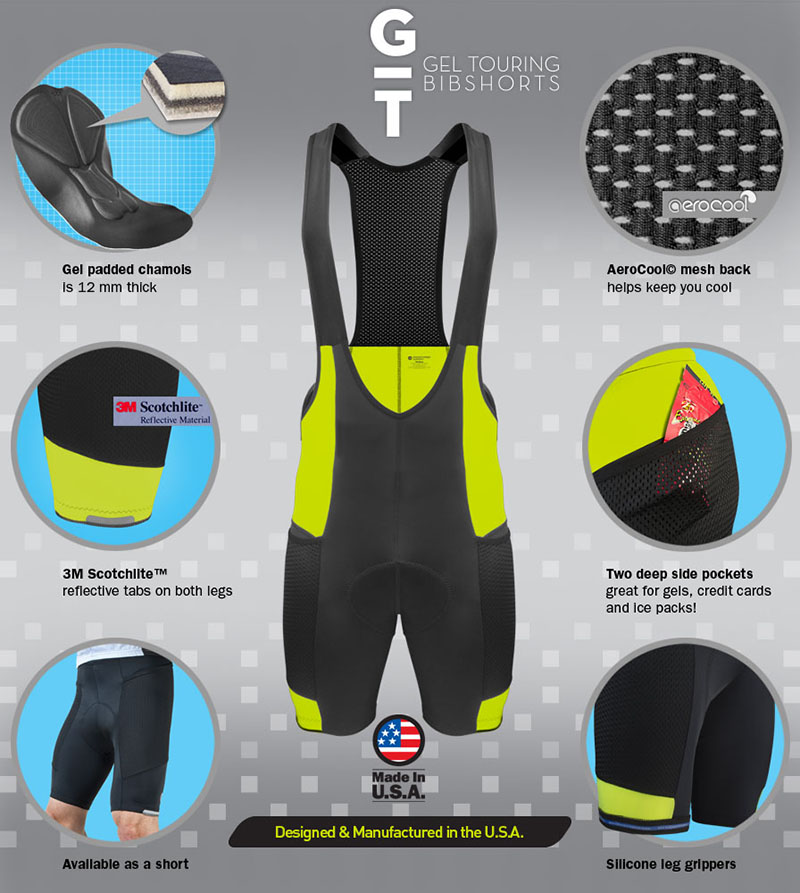 Gel Touring Bib-Short Features