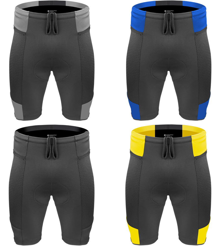 dcff551ee292 Men's Gel cycling shorts, bike shorts with side pockets - Black on ...