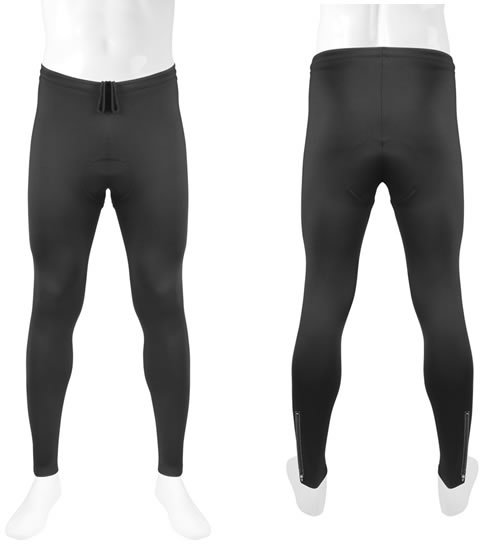 Men's Stretch Fleece Padded Cycling Tights