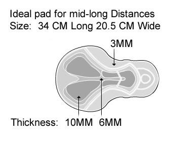 Cycling knicker has a 10mm chamois pad