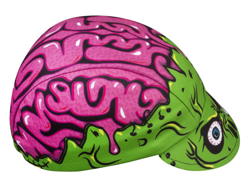 Zombie Brains Cycling Cap Side View