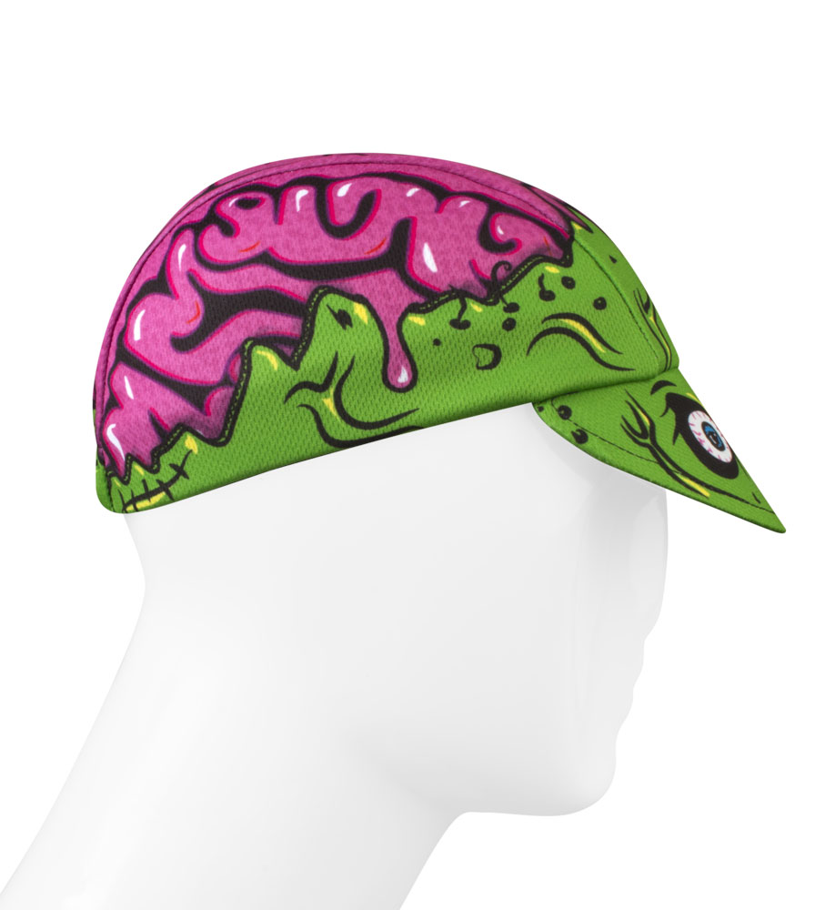 Zombie Brains Rush Cycling Caps Full Right Side View