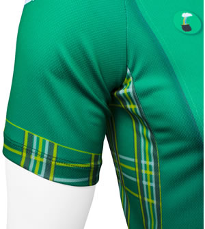 tartian plaid  St. Patrick's day cycle jersey