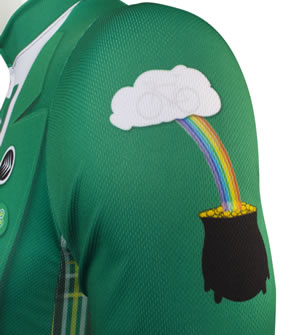 gold at the end of the rainbow  St. Patrick's day cycle jersey