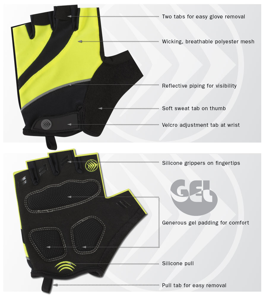 Features of Tempo 2.0 bike glove