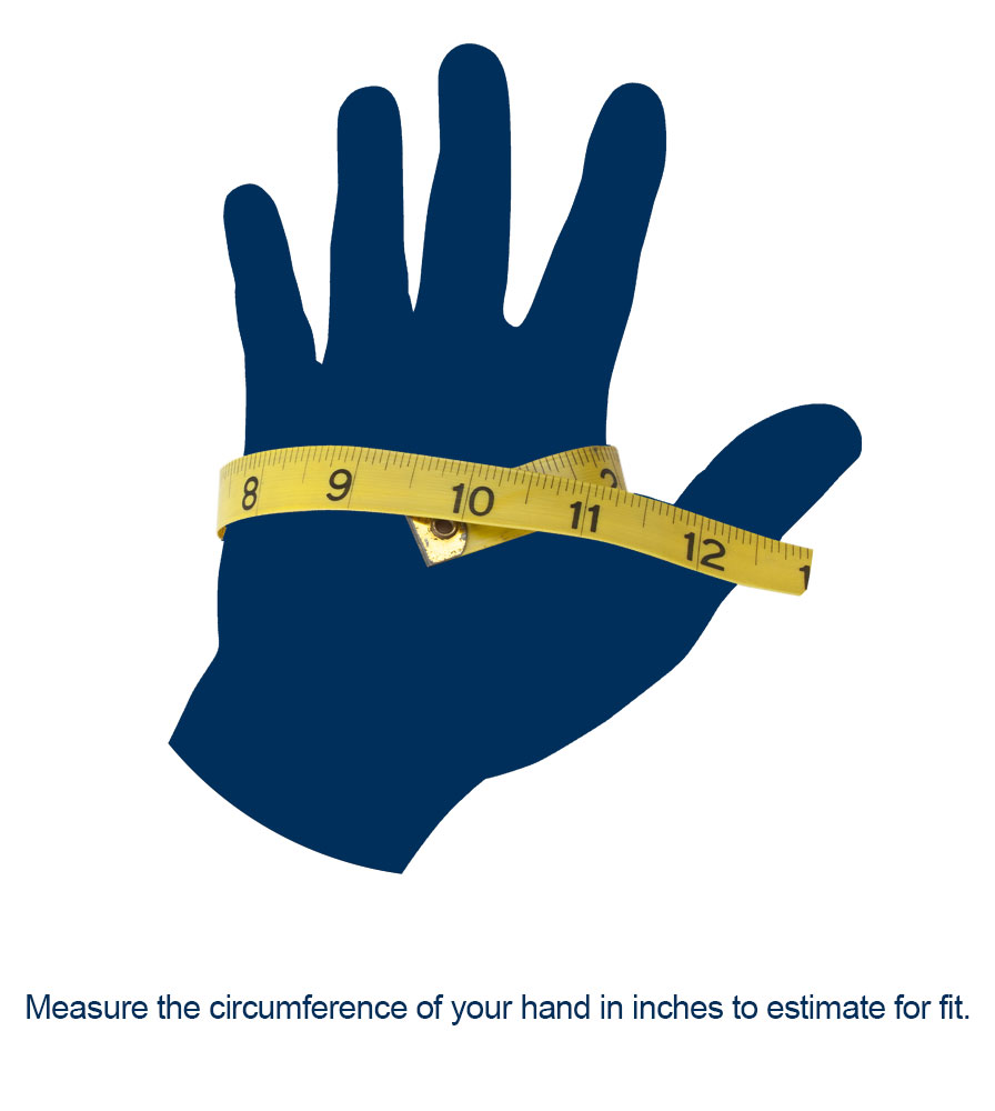 hand measuring for cycle gloves fit and sizing