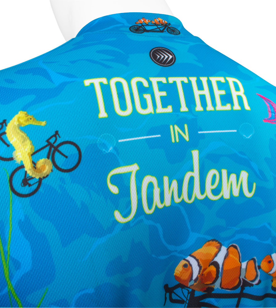 fish on bicycles in blue tandem