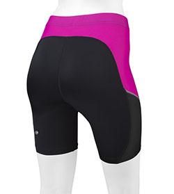 Luna compression shorts pink back