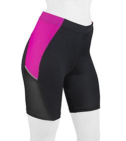 Luna compression shorts pink front