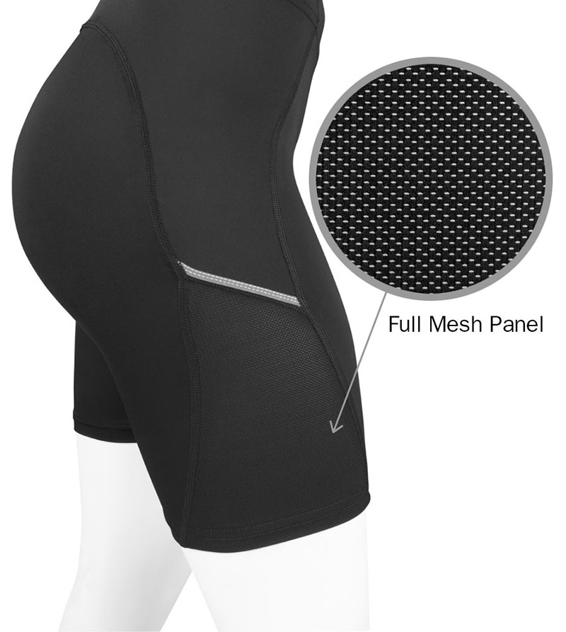 Side mesh panels keep you cool and dry