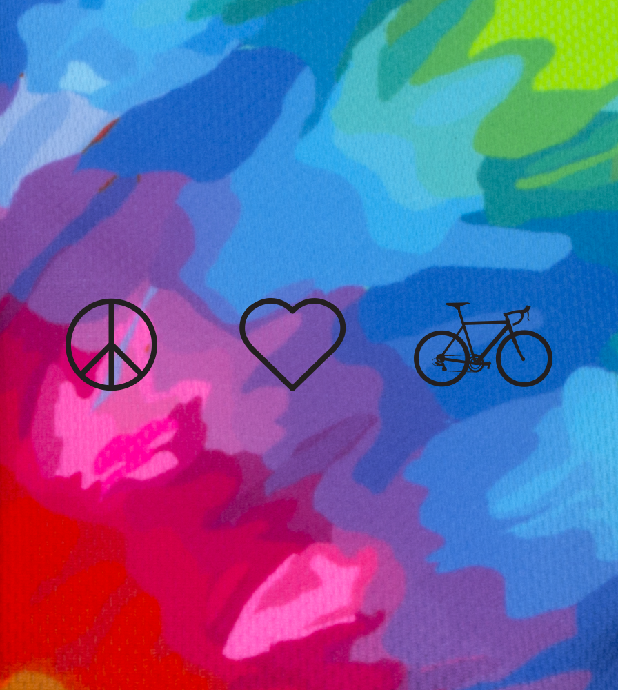 peace, love, bike side graphic