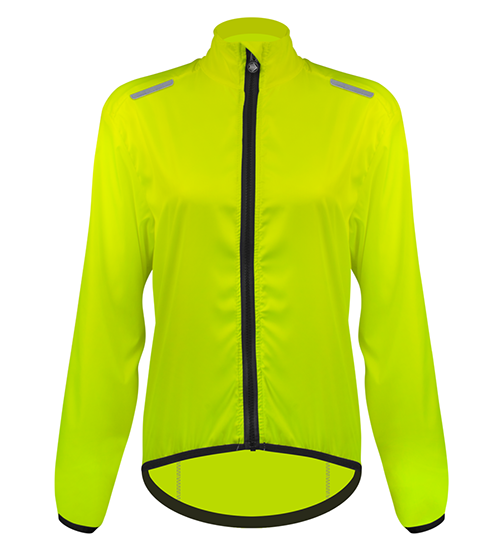 Women's windbreaker high visibility cycling jacket