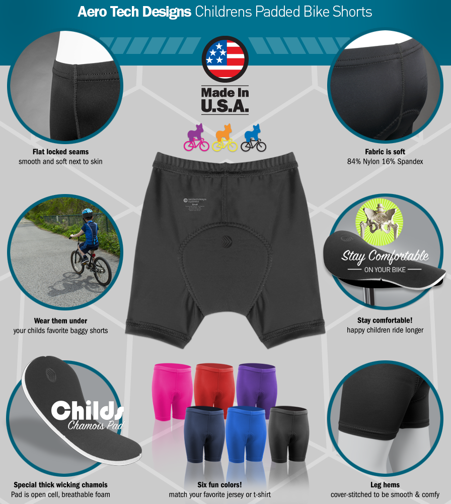 Children's Padded Bike Short Features