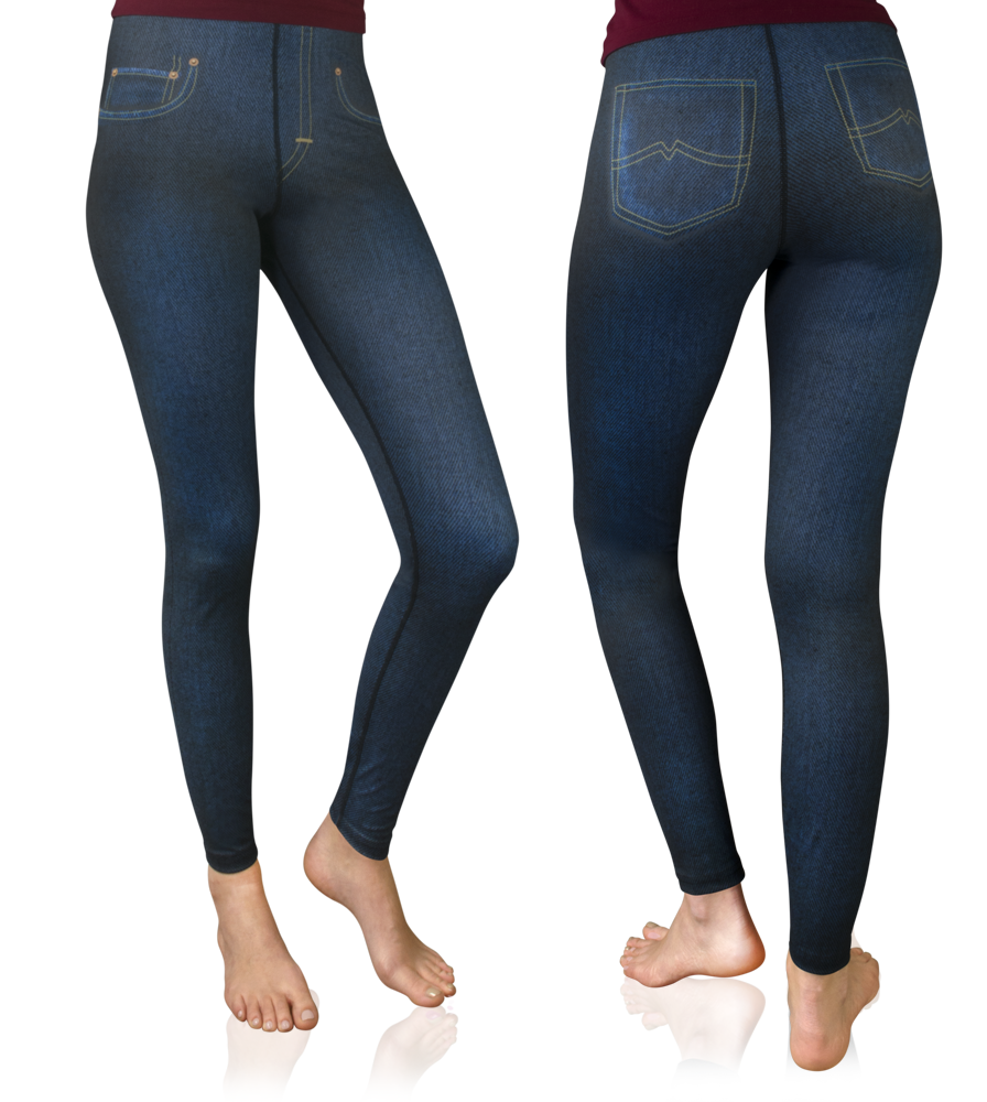 womens blue jeans tights