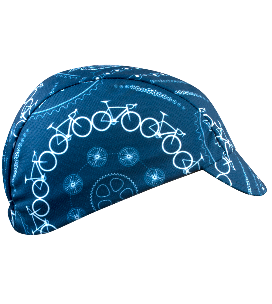 blue bandana bicycle cap