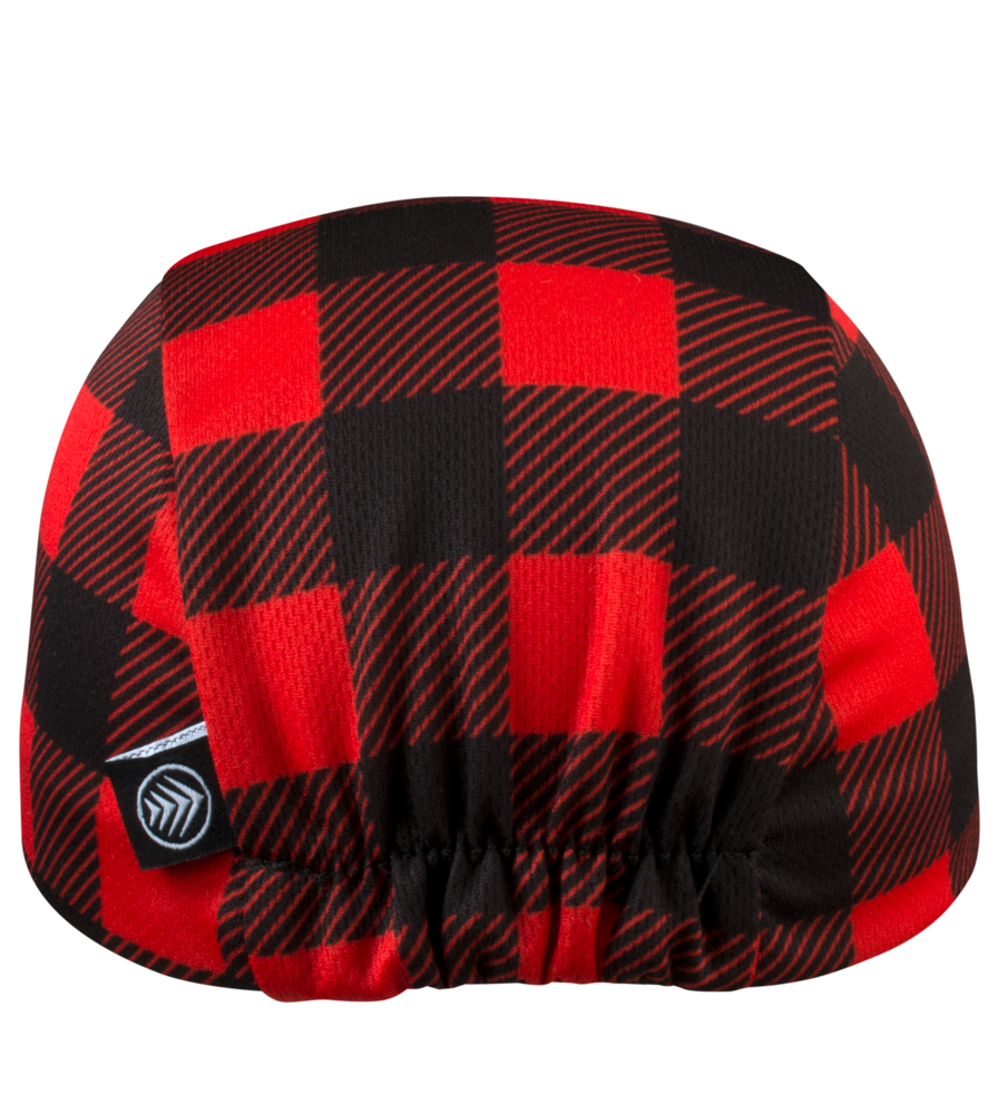 red and black plaid hat