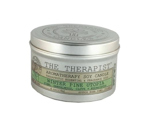 No. 01 Winter Pine Utopia Soy Candle - Travel Tin 6 oz