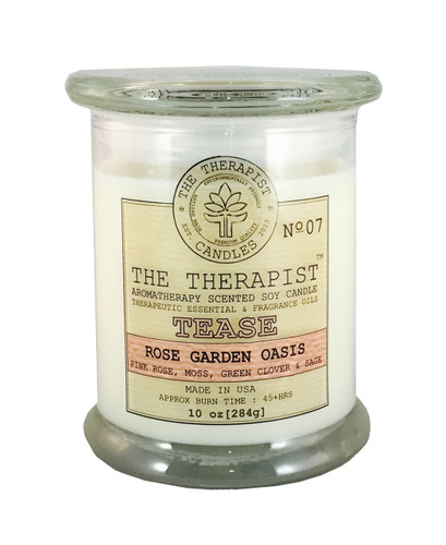 Rose Garden oasis soy candle, essential oil scented candle, premium fragrance candle, best candle