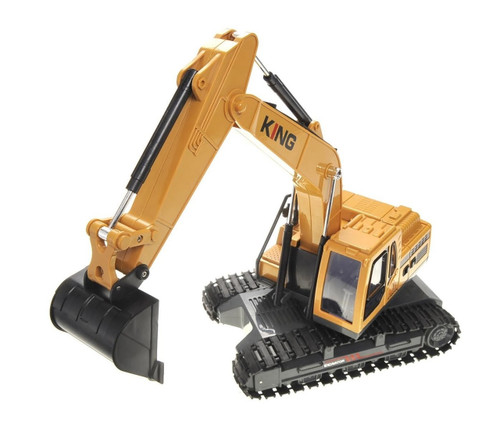 1 10 Excavator Loader RC Construction Truck Electric 6CH Lights Sound