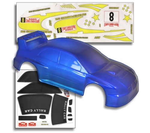 1 10 Rc Car Thunder Drift Body Shell For Sale In Jamaica: 1/10 Lightning Thunder RC Car Body Shell Blue & White