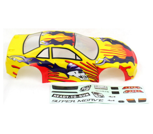 1 10 Rc Car Thunder Drift Body Shell For Sale In Jamaica: 1/10 Lightning Thunder RC Car Body Shell Yellow