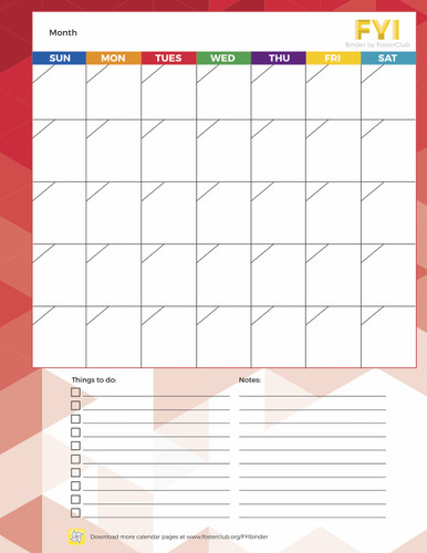Calendar Page - FREE Download