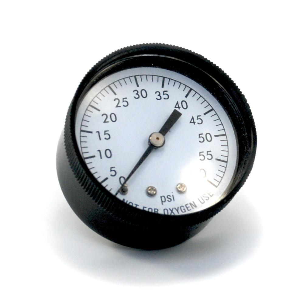 "Pressure Gauge 1/4"" 60 PSI Back Mount Clam Shell  -  CVAC295C"