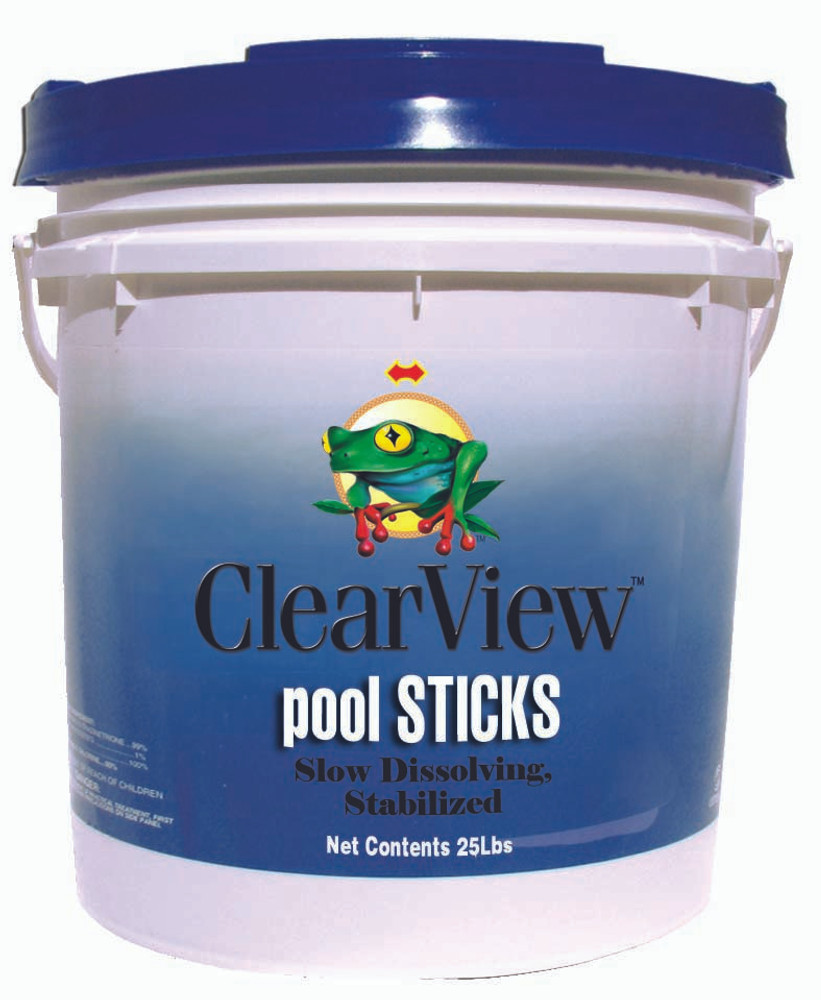ClearView Pool STICKS - 25 lb  -  CVST025