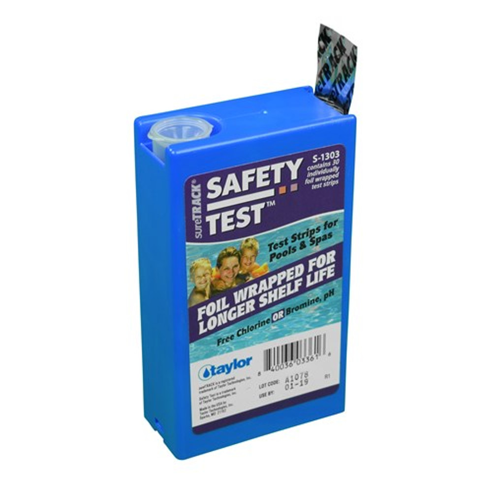 Taylor Technologies sureTRACK Safety 3-way Test Strips  -  S1303