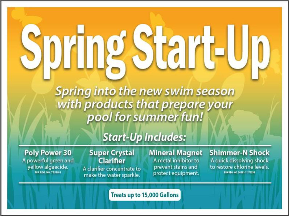 ClearView Swimming Pool Spring Start-Up Kit - Chlorine, 15K  -  CVSS1500