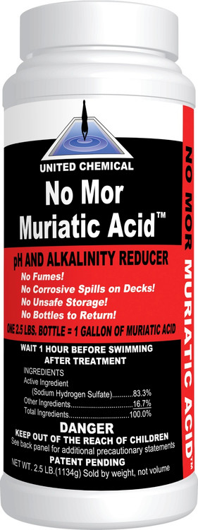 United Chemical No Mor Muriatic Acid - 2.5 lb