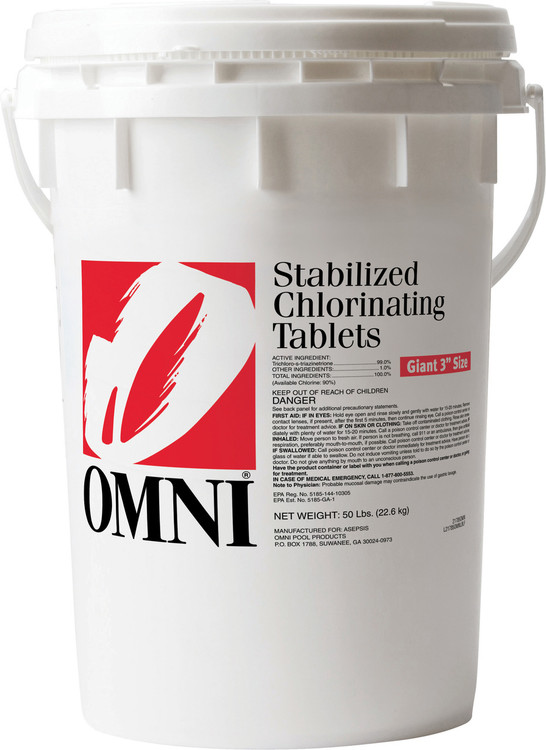 Omni Large Chlorinating Tabs - 50 lb