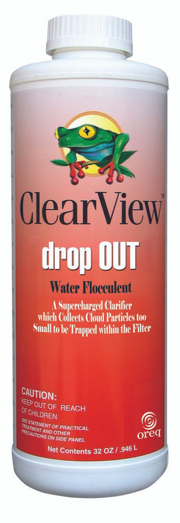 ClearView Drop Out Flocculant Pool Treatment - 1 qt