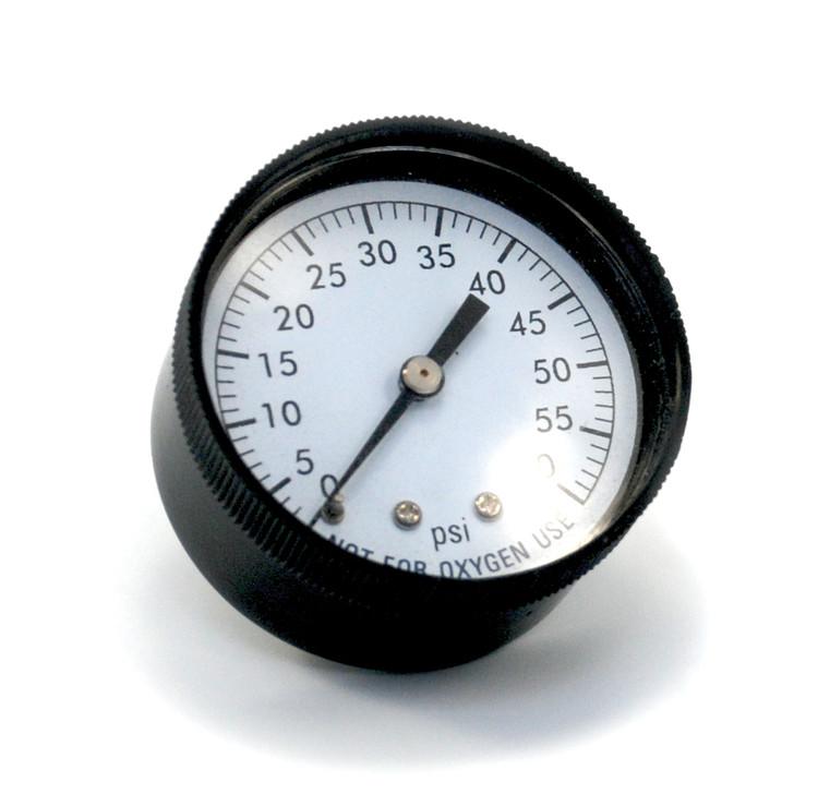 "Pressure Gauge 1/4"" 60 PSI  Back Mount Clam Shell"