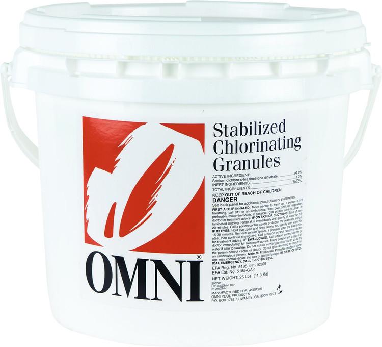 Omni Chlorinating Granules - 25 lb  -  21005