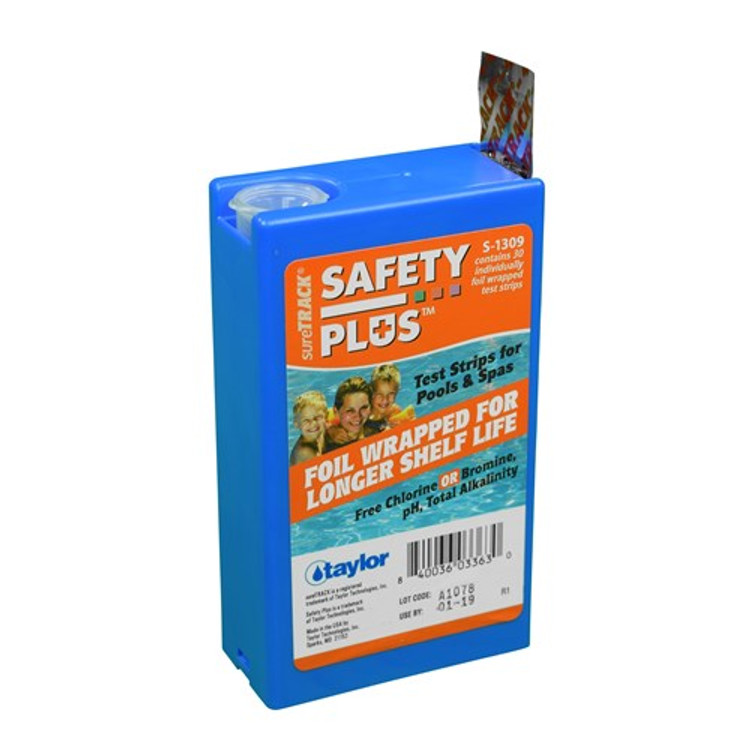 Taylor Technologies sureTRACK Safety Plus 4-way Test Strips
