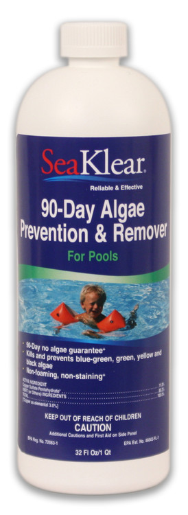 SeaKlear 90-Day Algae Prevention & Remover  -  1 qt  -  SKA-B-Q