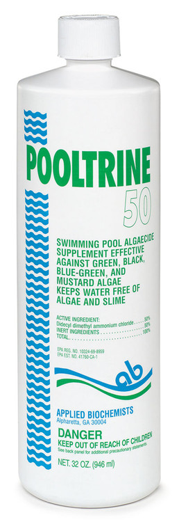 Applied Biochemists Pooltrine 50 algaecide - 1 qt