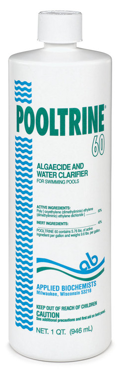 Applied Biochemists Pooltrine 60 algaecide - 1 qt