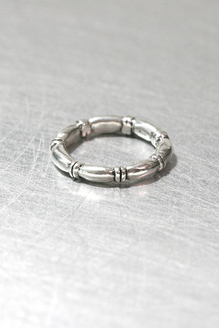 Anais Oxidized Sterling Silver Eternity Band Ring from kellinsilver.com