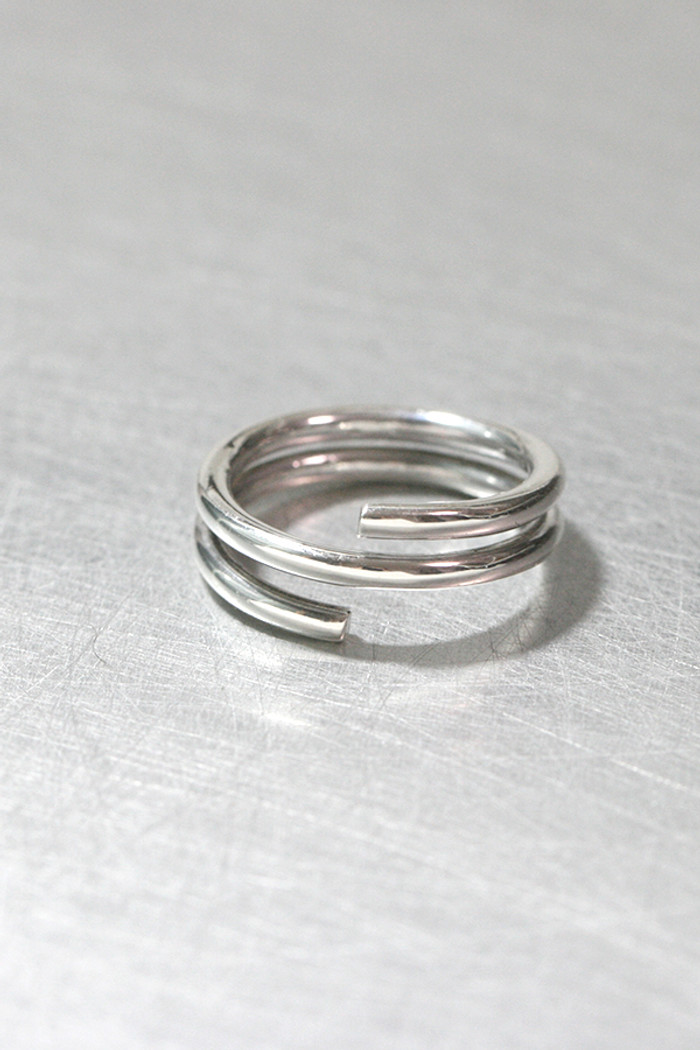 Sterling Silver Swirl Bypass Ring from kellinsilver.com