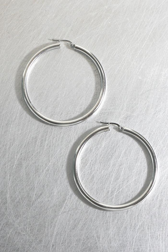 55mm Sterling Silver Large Hoop Snap Earrings from kellinsilver.com