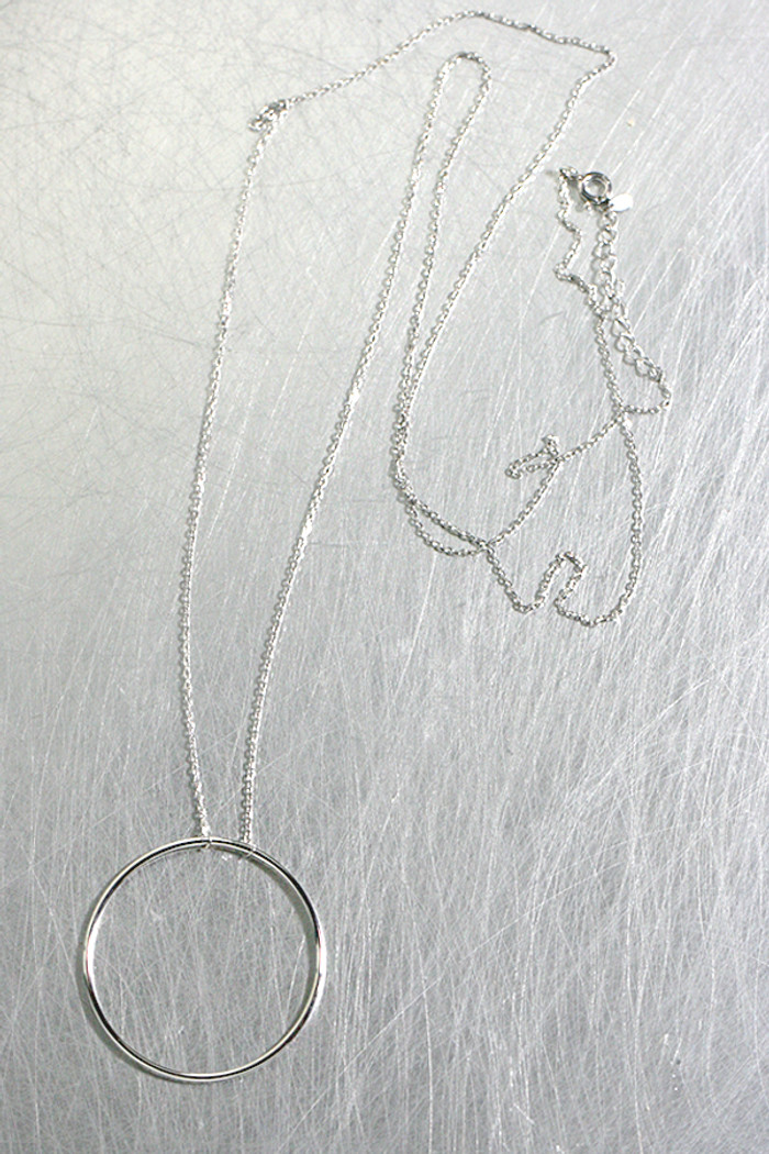 76cm long Circle Necklace Sterling Silver from kellinsilver.com