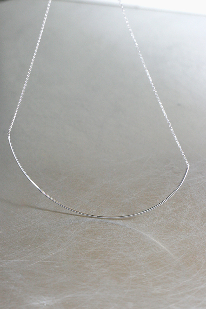 15cm bic curve bar necklace sterling silver from kellinsilver.com