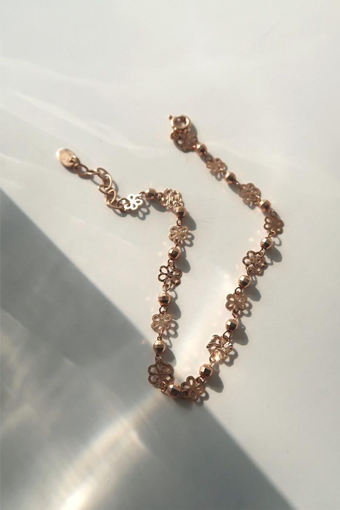 Rose Gold Daisy Bracelet sterling silver on kellinsilver.com